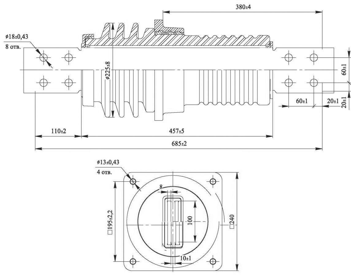 Изолятор ИПУ-10/2000-12,5 УХЛ1