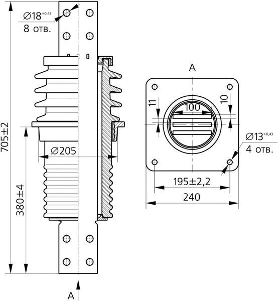 Изолятор ИПУ-10/3150-12,5 УХЛ1