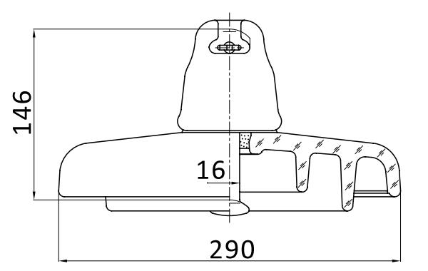 Изолятор ПСВ-120Б 112W